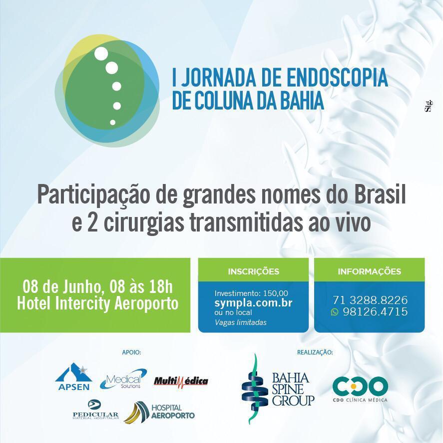 1ª Jornada de Endoscopia de Coluna da Bahia