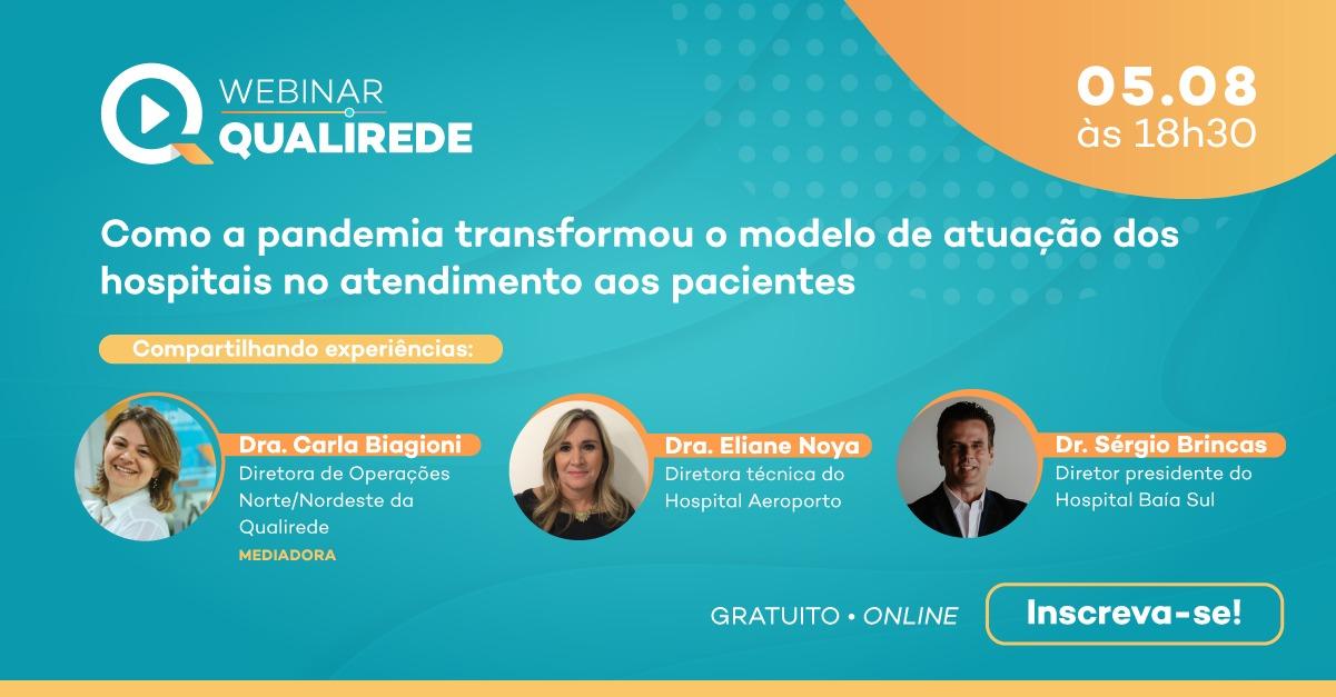 O Hospital Aeroporto foi a instituição escolhida no estado da Bahia para participar do próximo webinar da Qualirede